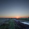 Muddy Road Sunrise II by JG Thompson