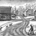Muddy South Dakota Farmyard by Dawn Senior-Trask