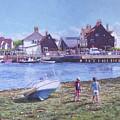 Mudeford Quay Christchurch From Hengistbury Head by Martin Davey