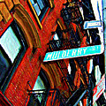 Mulberry Street Sketch by Randy Aveille