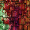 Mulberry Wine Contemporary Abstract Art by Isabella Howard
