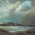 Mull From Iona by Caroline Peacock