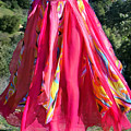 Multi-color Pink Skirt. Ameynra Design by Sofia Metal Queen
