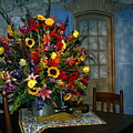Multicolor Floral Arrangement by Sally Weigand