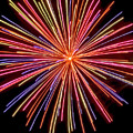 Multicolored Fireworks by Cynthia Woods