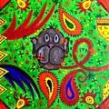 Mun Moji-hookah Monkey by Fareeha Khawaja
