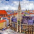 Munich Cityscape by Rafael Salazar