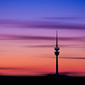 Munich - Olympiaturm At Sunset by Hannes Cmarits