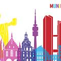 Munich Skyline Pop by Pablo Romero