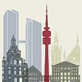 Munich Skyline Poster by Pablo Romero