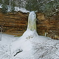 Munising Falls Frozen by Michael Peychich