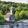 Munising Grand Island Lighthouse Upper Peninsula Michigan Pa 01 by Thomas Woolworth