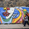 Mural In Valparaiso by Carl Purcell