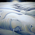 Mural  Winters Embracing Crevice by Nancy Griswold