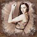 Muscle And Strength Pinup Poster Girl by Jorgo Photography - Wall Art Gallery