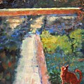 Museum Cat Enters The Picture After Georges Seurat by Jimmie Trotter