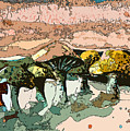 Mushroom Rows by Mindy Newman