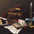 Music And Literature By William Michael Harnett by William Michael Harnett