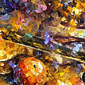 Music And Wine - Palette Knife Oil Painting On Canvas By Leonid Afremov by Leonid Afremov
