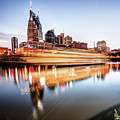 Music City Motion - Nashville Skyline Square Format by Gregory Ballos