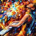 Music Fight by Leonid Afremov