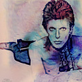 Music Icons - David Bowie Ix by Joost Hogervorst