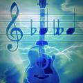 Music Is Everything Lightning by Debra and Dave Vanderlaan