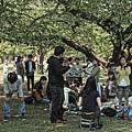 Music-makers In Chiyoda Park, Tokyo 2014 by Chris Honeyman