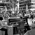 Music On The Boston Common Boston Ma Black And White by Toby McGuire
