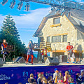 Musical Entertainment In Central Park In Bariloche-argentina by Ruth Hager
