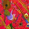 Musical Instruments 1 Painting By Everna Taylor
