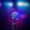 Musical Microphone On Stage by Johan Swanepoel