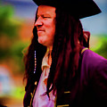 Musician In Pirate Hat And Dreadlocks - In Watercolor Photo by Doug Berry