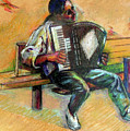 Musician With Accordion by Stan Esson