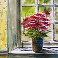 Musing-gerberas At The Window by John Williams