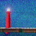 Muskegon Lighthouse by Marti Buckely
