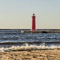 Muskegon South Pierhead Light by Sue Smith