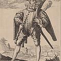 Musketeer by Jacques De Gheyn Ii After Hendrik Goltzius