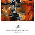 Muskoka Autumn Sunset Northern Ontario Poster Series by Bob Salo