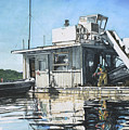 Mussel Harvest On Penn Cove by Perry Woodfin
