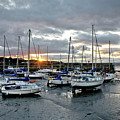 Musselburgh Marina In The Sunset. by Elena Perelman