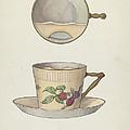 Mustache Cup And Saucer by Dana Bartlett