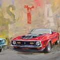 Mustang Panorama Painting by Eduardo Tavares