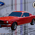 Mustang Poster by Tommy Anderson