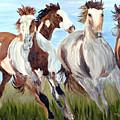 Mustangs Running Free by Michael Lee
