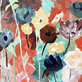 Muted Floral Abstraction by Jilian Cramb - AMothersFineArt