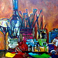 My Art Studio by Patti Schermerhorn