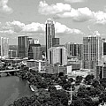 My Austin Skyline In Black And White by James Granberry