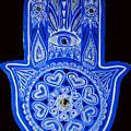 My Blue Hamsa by Patricia Arroyo