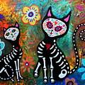 My Cats Dia De  Los Muertos by Pristine Cartera Turkus